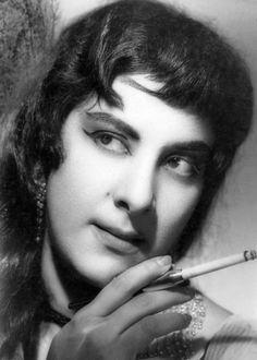 Portrait of the actress Nargis, c. 1960.