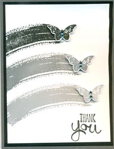 Stamp' Up! ... handmade thank you card ... Work of Art ... shades of gray ... would luv to see one spot of color ...