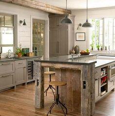 kitchen cabinet wall using repurposed windows - Bing Images