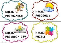Kąciki tematyczne – mały rozmiar 1 Logo, Education, Comics, Comic Book, Educational Illustrations, Comic Books, Learning, Comic, Comic Strips