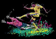 Charis Tsevis put out a series of experimental typographic illustrations inspired by the London 2012 Olympic games.
