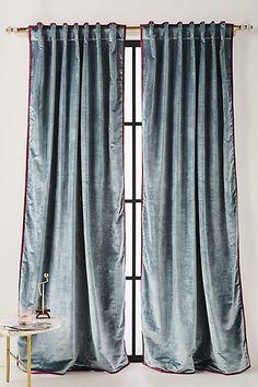 Anthropologie Petra Velvet Curtain
