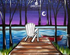 Sitting by the Dock of the Lake www.thepaintbar.com