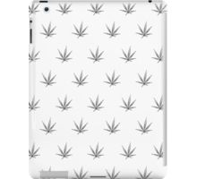 iPad Case/Skin - This pot leaf pattern, marijuana design is clean looking and understated, but still lets your appreciation for cannabis show.