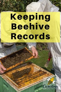 Don't under-estimate the value of keeping good beehive records. Good hive records can be kept by different methods. The information retained is a great asset for future inspections. Bee Hive Plans, Beekeeping For Beginners, Raising Bees, Bee Boxes, Bee Farm, Backyard Beekeeping, Save The Bees, Bees Knees, Queen Bees