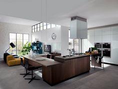 cucina e soggiorno mobile unico - Cerca con Google | кухни ...