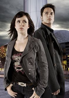 Two of the best lookin' people on planet Earth. John Borrowman and Eve Myles.