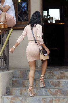 Christina Milian booty in a short skirt and high heels