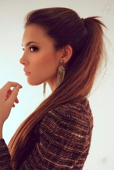 This is the perfect slick back ponytail with volume