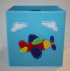 Kids Storage Bin Toy Storage Boy Room Decor Light by KissyMonster, $25.00