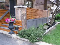 Diane's Craftsman Porch Renovation My Great Outdoors.  I love the wood and think a panel like this would make a great privacy fence for the front of my house.