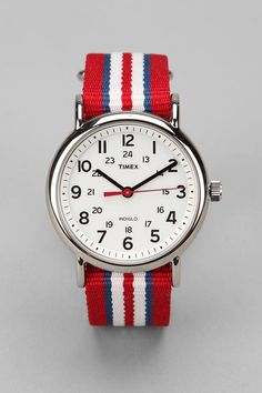 I need this to continue living - Timex Striped Band Weekender Watch Best Kids Watches, Cool Watches, Watches For Men, Stylish Watches, Timex Watches, Men's Watches, Wrist Watches, Sport Watches, Style Outfits