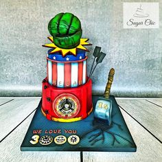 x Avengers Birthday Cake x by Sugar Chic Avengers Birthday Cakes, Hulk Cakes, Superhero Cake, Disney Marvel, 16th Birthday, Celebration Cakes, Christmas Ornaments, Daily Inspiration, Holiday Decor