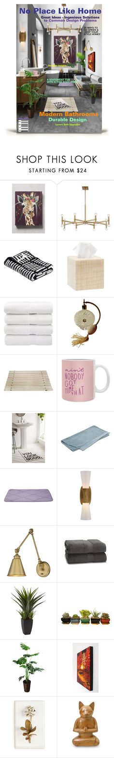 """Home Magazine Cover"" by deborah-518 ❤ liked on Polyvore featuring interior, interiors, interior design, home, home decor, interior decorating, Spring Carolina Whitaker, Possini Euro Design, Pigeon & Poodle and Iris Hantverk"
