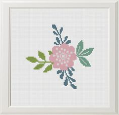 Embroidery Patterns Free, Vintage Embroidery, Cross Stitch Designs, Cross Stitch Patterns, Color Rosa, Red Color, Lazy Daisy Stitch, Crochet Tablecloth, Retro Pattern