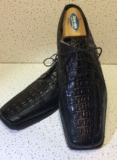 Stacy Adams Men's Leather Alligator Size 9 Dress Shoes. #StacyAdams #Oxfords