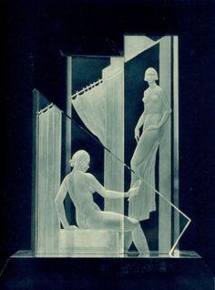 Jinfrich Cadìk, Dílo Josefa Drahonovského Glass Sculpture - Prague 1933