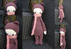 BINA the bear made by usako / crochet pattern by lalylala