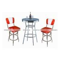 Vi erbjuder dig både att handla möbler pjäs , det vill säga , stolar och bord för sig eller att du köper kompletta uppsättningar såsom Booths Set , Diner Set och Bar Set mm .