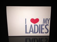 Bridesmaid Thank You Cards  Heart My Ladies by LittleLadyCompany, $3.25