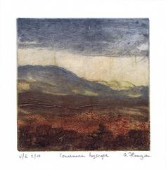 """Connemara Bogscape: """"Connemara Bogscape"""" is a carborundum and chine colle print in a variable edition of 10 prints. The edition… #IrishArt"""