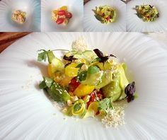 Culinary Challenge 12 – The Art of the Composed Salad—Take inspiration from Michel Bras' Gargouillou de Jeunes Légumes & Joël Robuchon's Salade Pastorale aux Baby Squash, Sgt Pepper, Chorizo, Cyprus, Goat Cheese, Custard, Soup And Salad, Cherry Tomatoes, Freeze