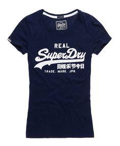 Superdry Vintage T-shirt Vintage T Shirts, T Shirts For Women, Clothes For Women, Clothes Horse, Fashion Branding, Superdry, My Wardrobe, Sport Outfits, Shirt Designs