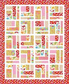 "Bundle of 10 Designer Pattern: Robert Kaufman Fabric Company - a gorgeous flannel quilt (pattern from Amelie Scott Designs) using their new ""Ella Flannel"" line."