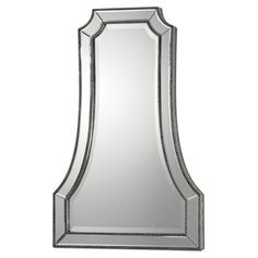 Hand-beveled wall mirror designed by Carolyn Kinder.   Product: MirrorConstruction Material: Mirrored glass, MDF and p...