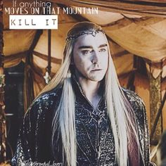 "« ""If anything moves on that mountain, KILL IT""【Thranduil】~ ♥️"