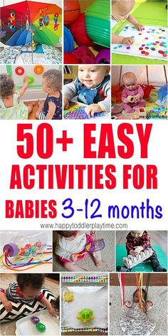 50+ Activities for Babies 3-15 Months - HAPPY TODDLER PLAYTIME