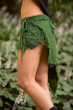 Green Gypsy Sister Skirt Sexy Fairy Hippie Boho by AryaClothing