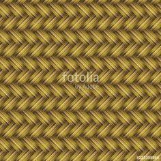 Vektör:  Golden Wicker Seamless Pattern