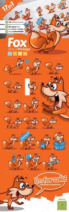 Fox Mascot — Transparent PNG #mascot #mammals • Available here → https://graphicriver.net/item/fox-mascot/8782509?ref=pxcr