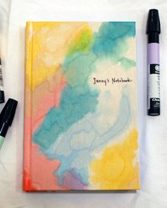 Little Green Notebook: Chartpak marker dyed canvas notebook.  Very abstract and unique for every girl