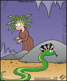 Off the Mark by Mark Parisi Friday, May 2014 Funny Toons, Cartoon Monsters, Fiction, Sarcasm Humor, I Love To Laugh, Thats The Way, Funny Laugh, Funny Relatable Memes, Book Nerd