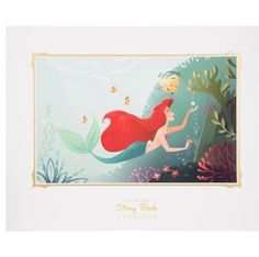 Disney Parks Ariel and flounder Deluxe Print by Story Book New