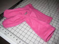 Fleece sock tutorial