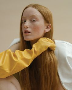 """oystermag: """"India Menuez On The Power Of Art For Oyster """" Fashion Mag, India Fashion, Fashion Story, Fashion Beauty, Oyster Magazine, Minimalist Beauty, Powerful Art, Redhead Girl, Pure Beauty"""