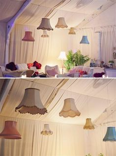 A fun vintage, upcycled option to decorate a marquee