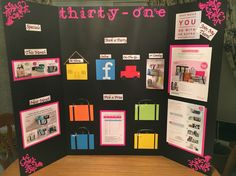 My vendor show display board for thirty-one!