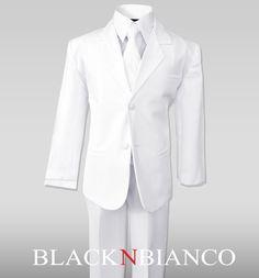 Big Boys Suits in White Complete Outfit Set, Size: White Slacks, White Suits, Handsome Kids, Kids Suits, Formal Suits, Suit Vest, Dress Shirt Sizes, Wedding Suits, Wedding Attire