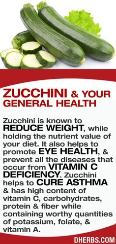 Zucchini - Healthy Facts