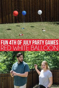 The best of july party games! tons of fun games for kids, for adults, for teens or really any age! minute to win it games you can diy yourself in just Balloon Party Games, Diy Party Games, Adult Party Games, Adult Games, Party Ideas, Abc Games, Diy Ideas, Birthday Games For Kids, Fun Games For Kids