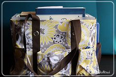 Organizing #homeschool curriculum with a Thirty-One bag