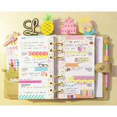 """l i ndsay on Instagram: """"I LOVE my birthday week layout! I will definitely be layering my washi from now on, I think it looks so cute!"""""""