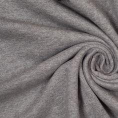 Heathered Gray Heavy Weight Cotton Jersey - Fashion Fabrics
