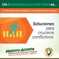 Con la construcción de retornos anticipados y pasos peatonales en puntos conflictivos solucionaremos de forma innovadora los cruces peatonales #HermosilloConTodo