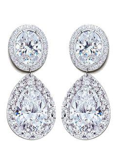 Anna Davern Double 'Diamond' Earrings