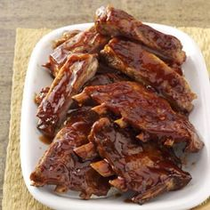 Potluck Spareribs Recipe from Taste of Home -- shared by Sheri Kirkman of Lancaster, New York